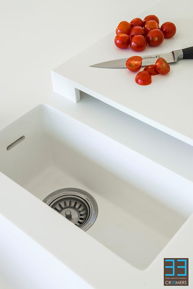 Keuken Fineer Verven : Renovatie van keuken en eetkamer zonder breekwerk Binnenkijken