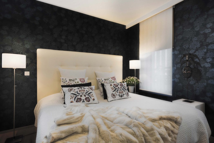 Landelijke slaapkamer behang cool voorbeelden van slaapkamers