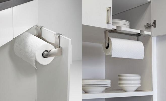 Keukenaccessoires Webshop : Keukenrolhouder voor keukenkasten en keukenkastdeuren