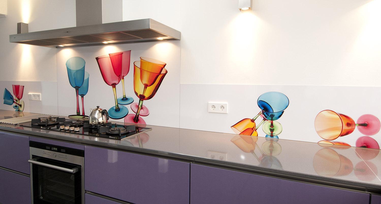 Fotobehang Voor Keuken : Foto spatwand: Een originele achterwand in de keuken