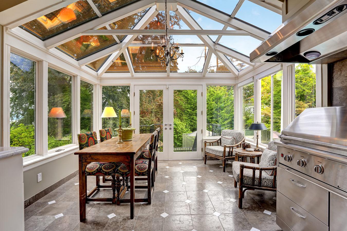 Keuken Uitbreiden Met Veranda : Witte veranda met inox keuken – aanbouw of veranda
