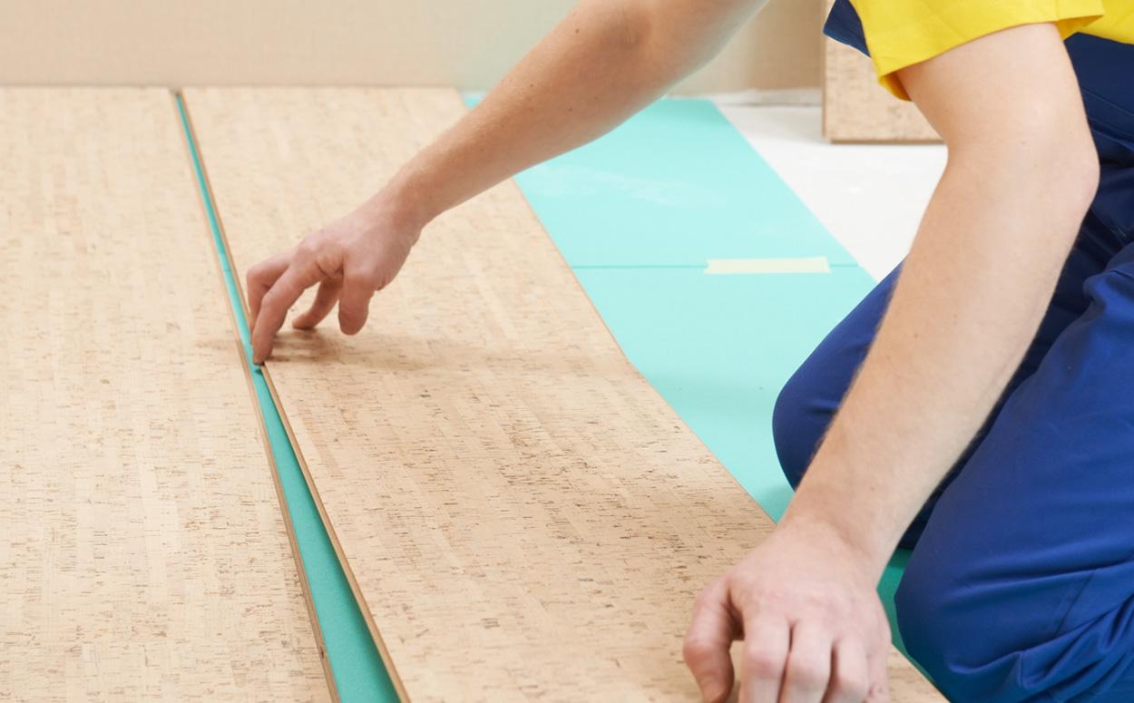 kurkvloer plaatsen: prijs advies - voordelen & onderhoud, Badkamer