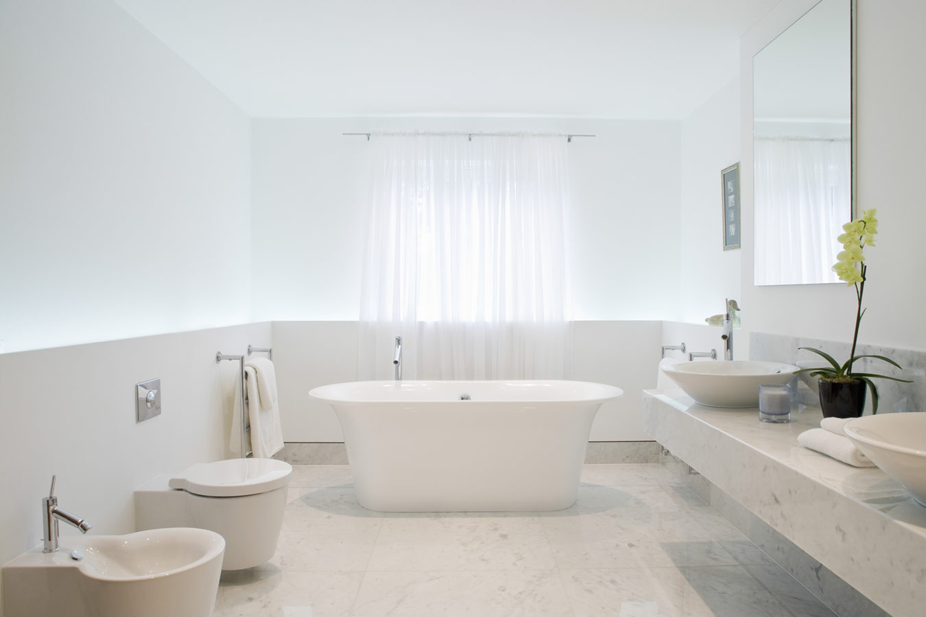 Moderne badkamers inspiratie foto 39 s en tips - En grijze bad leisteen ...