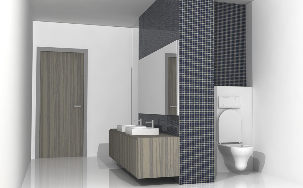 Good badkamer inrichten toilet verstoppen with inrichting for Kostprijs renovatie badkamer
