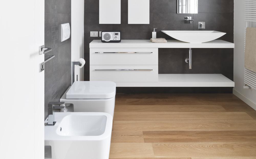 Houten Vloer Badkamer : Parket of laminaat in de badkamer?