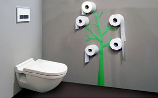 Het kleinste kamertje inrichten tips en originele idee n - Verf wc ...