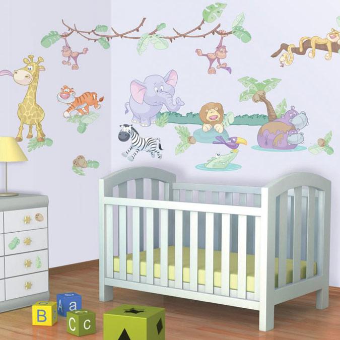 Muurstickers in de babykamer populaire merken for Muurdecoratie babykamer