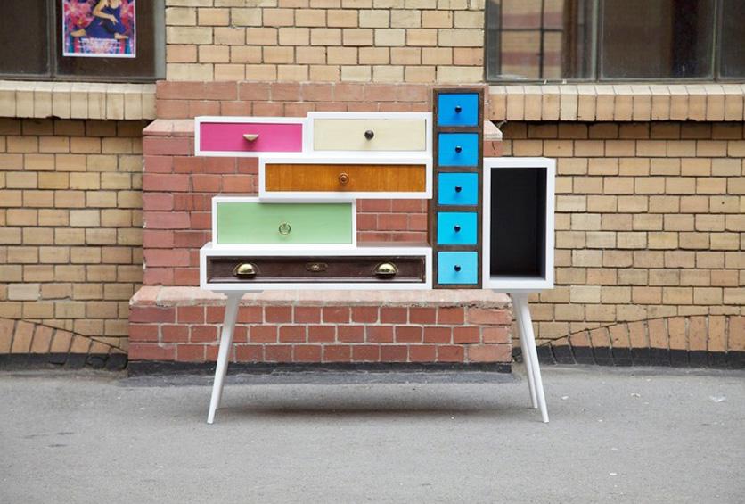 Een nieuwe kast maken met oude schuiven - Planken maken in een kast ...