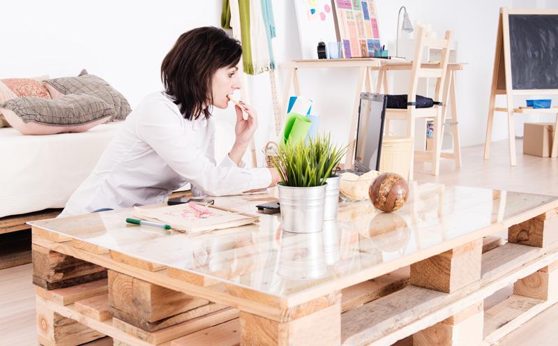 Salontafel van palet inspiratie voorbeelden - Muebles con taras ...