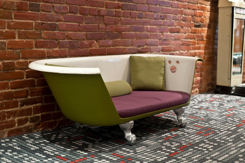 Creatief met afval gerecycleerde meubels en woonaccessoires - Originele toilet decoratie ...