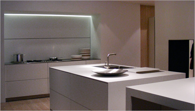 Corian Achterwand Keuken : Afwerking Witte Keuken: Betonlook in de keuken en andere nieuwe trends