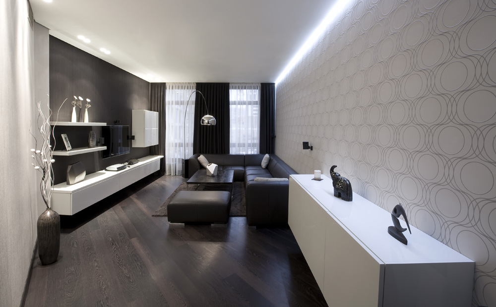 Zwart wit interieur ontwerpen tips inspiratie - Decoratie klein appartement ...