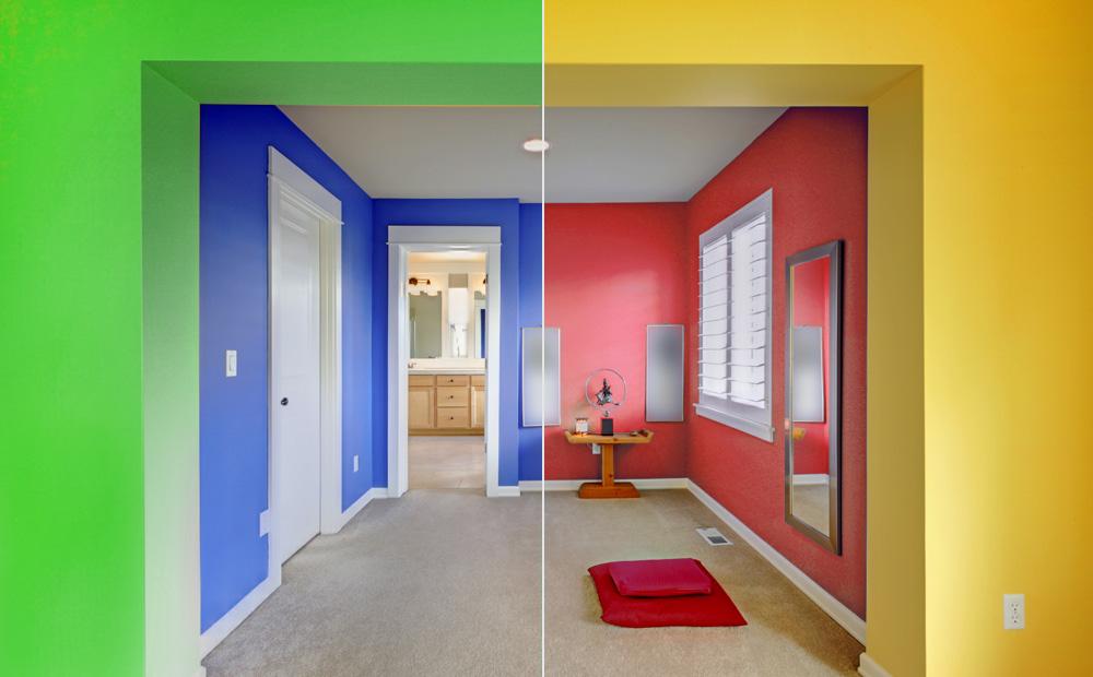Kleuradvies interieur kleuren en hun ruimtelijk effect - Kamer schilderij ...