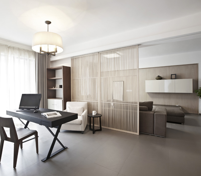 tips voor een home office in de woonkamer. Black Bedroom Furniture Sets. Home Design Ideas