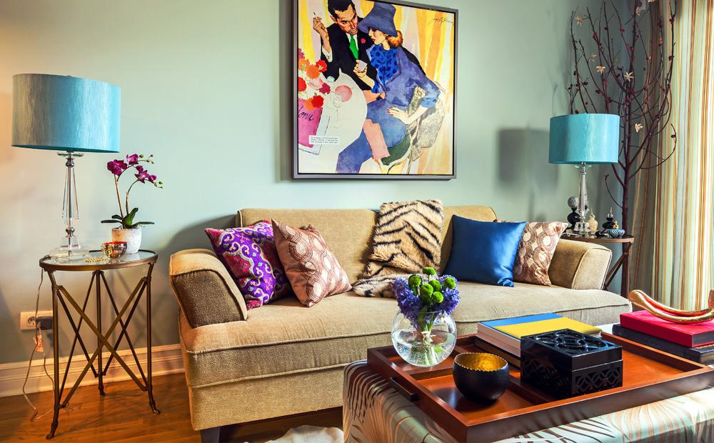 Woonkamer kleuren kiezen tips en voorbeelden - Kleur verf moderne woonkamer ...