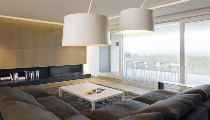 design appartement inrichting met zicht op zee - interieur door inside, Deco ideeën