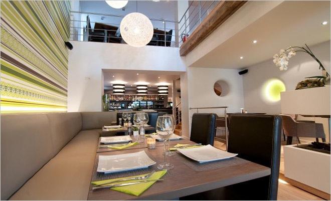 Restaurant inrichting moderne bistro anso geraardsbergen binnenkijken for Moderne inrichting