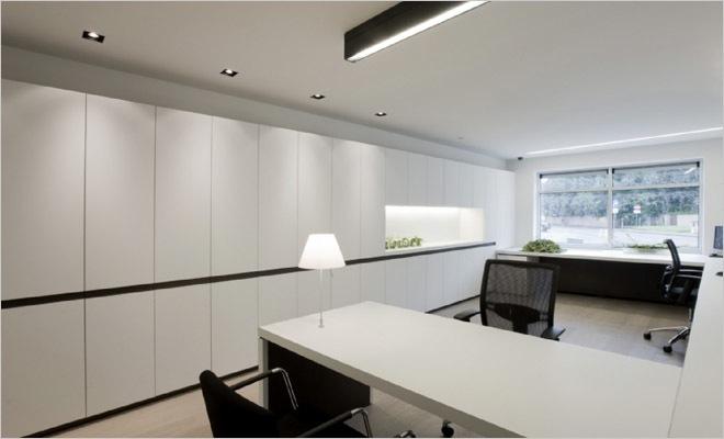 Bank en verzekeringskantoor inrichting met modern interieur - Moderne keukenbank ...