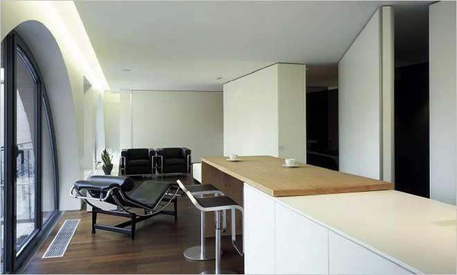 filip deslee woonkamer en keuken pivoterende deur