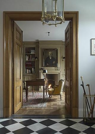 Landhuis in engelse stijl inrichting door lef vre interiors for Antiek interieur