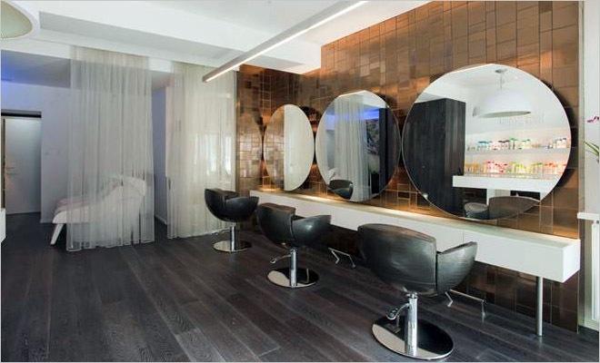 Modern interieur kapsalon inrichting door montagna lunga de hoofdzaak - Kleursalon ontwerp ...