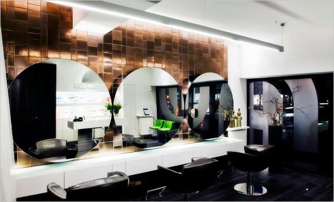 Modern interieur kapsalon inrichting door montagna lunga de hoofdzaak - Interieur decoratie ontwerp ...