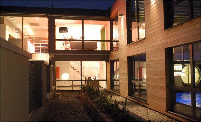 Design hotel inrichting inspiratie hotel de pits - Interieur gevelbekleding houten ...