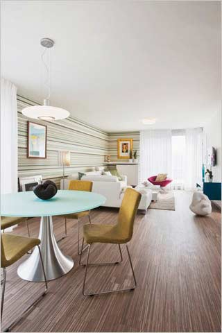 Modern appartement met hip behang interieurdesigner - Modern appartement modern appartement ...