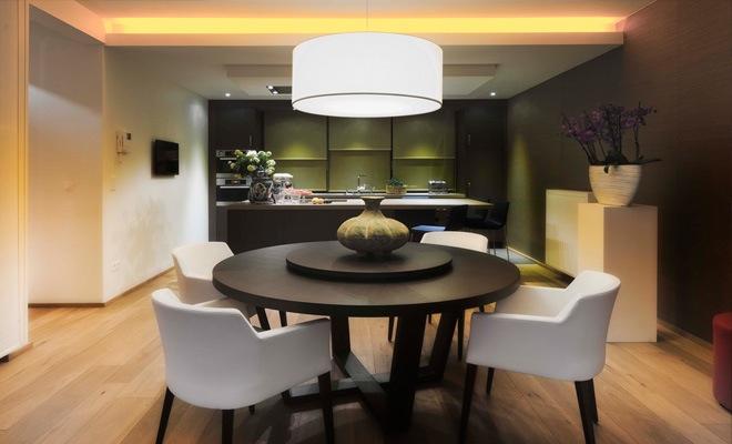 Moderne Muziek Woonkamer : Stijlvol appartement met open keuken en moderne woonkamer