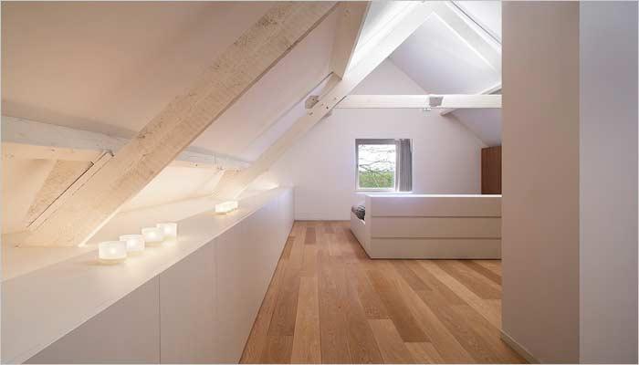 Moderne inrichting halfopen bebouwing door interieurarchitect verbrugghe - Gezellige badkamer ...