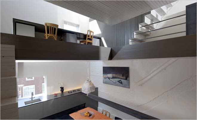 Moderne rijwoning renovatie de zwarte parel - Huis exterieur model ...
