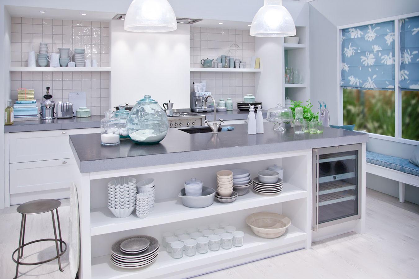 Keuken Beton Werkblad : Idyllische open keuken met betonnen werkblad