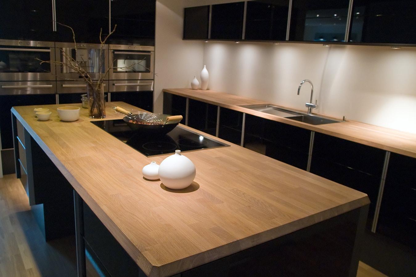 Keuken Eiken Houten : Houten werkblad in de keuken tips soorten hout