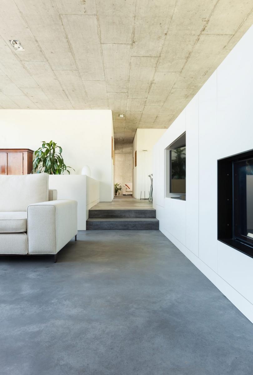 Idee n voor een moderne woonkamer inspiratie - Interieur moderne inspirant piliers en beton ...