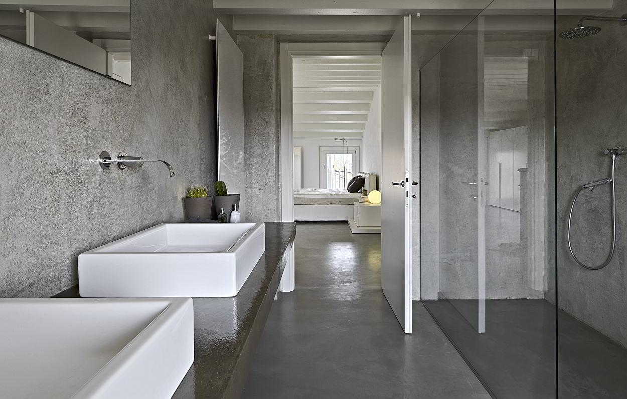 een betonvloer in de badkamer tips inspiratie
