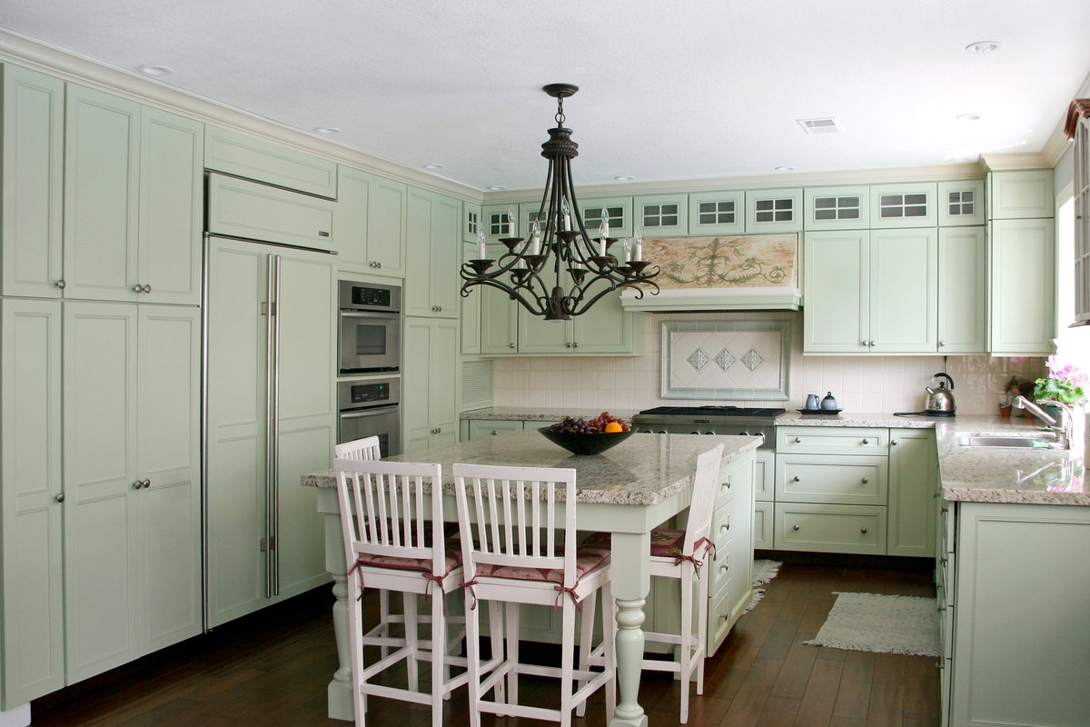 Keuken Landelijk Kookeiland : Landelijke keuken in magnolia kleur keukens de abdij