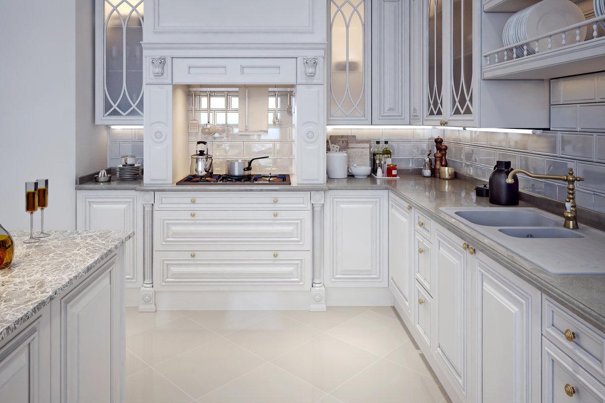 Witte Keuken Pinterest: ... witte keuken met zwart granieten ...