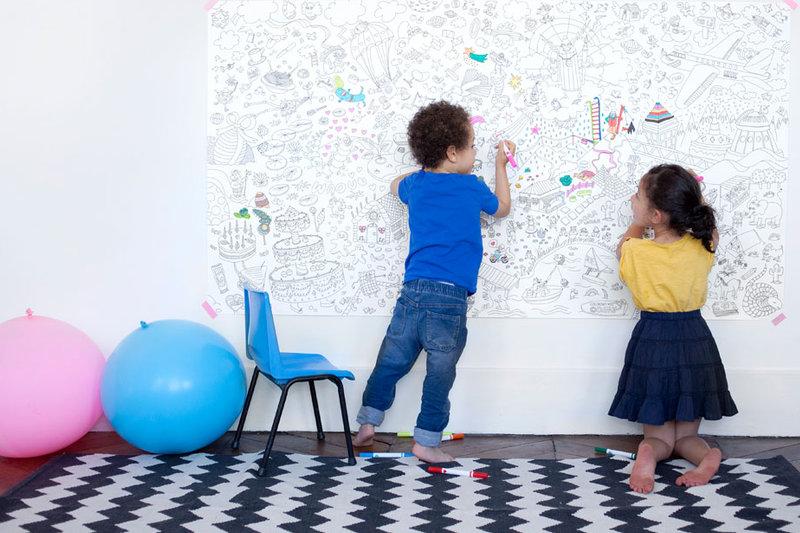 Kleurplaten Xxl.Grote Kleurplaten Omy Voor De Kinderkamer Info En Verkooppunten