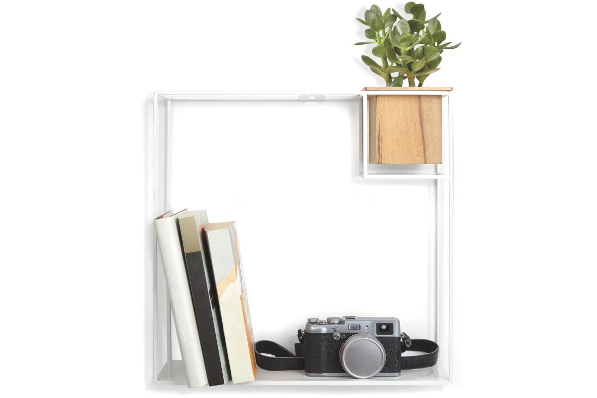 Conceal Boekenplank Umbra : Umbra cubist shelf design wandplank
