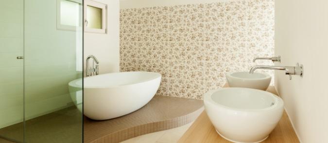 badkamer behangen