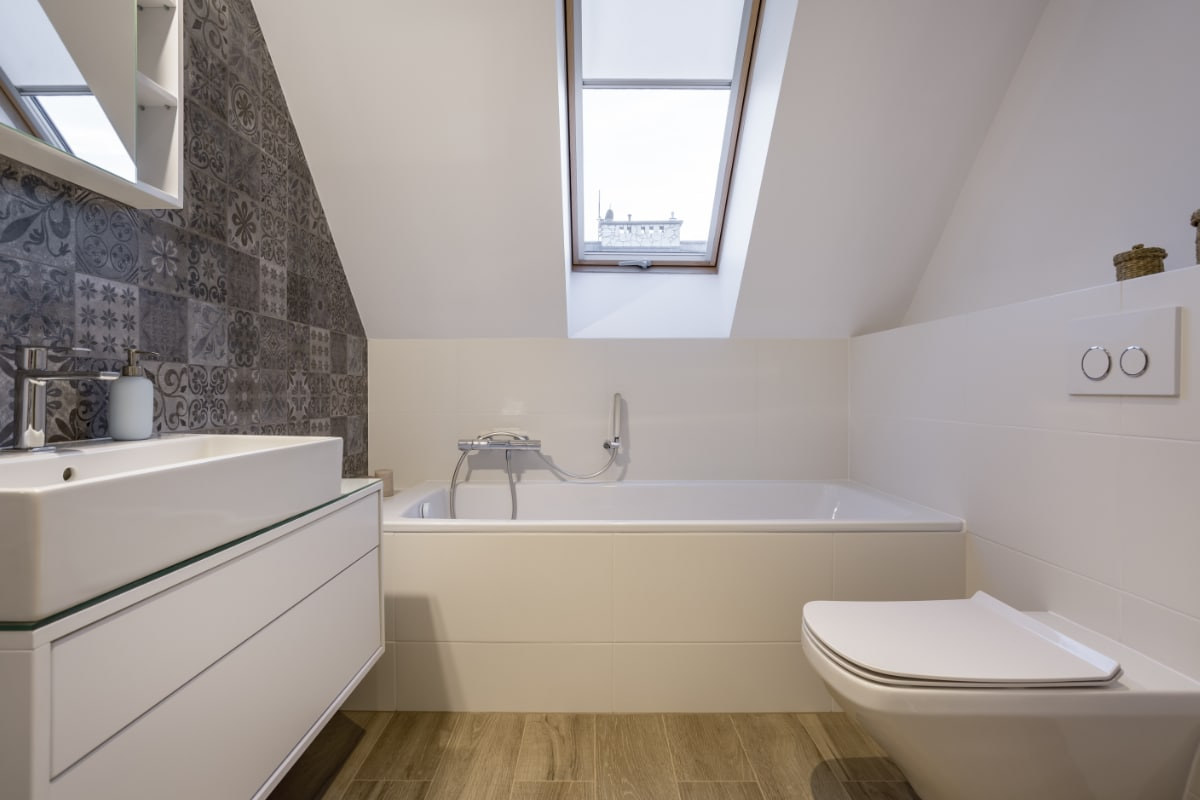 keramisch parket badkamer