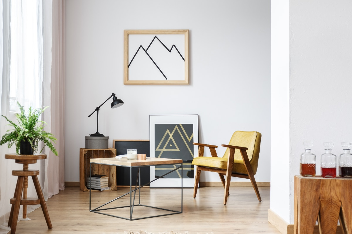retro scandinavisch interieur